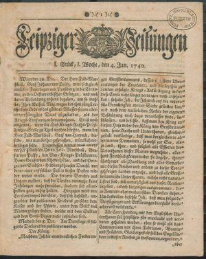 Leipziger Zeitungen on Jan 4, 1740