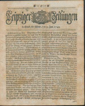 Leipziger Zeitungen vom 19.01.1740
