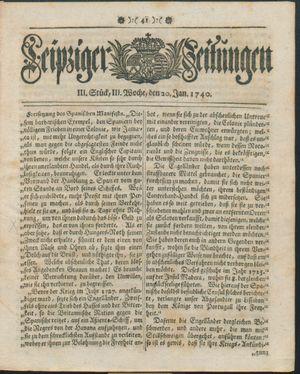 Leipziger Zeitungen vom 20.01.1740