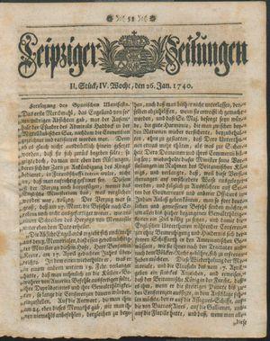 Leipziger Zeitungen on Jan 26, 1740