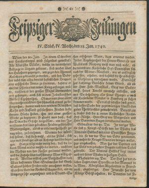 Leipziger Zeitungen vom 28.01.1740