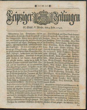 Leipziger Zeitungen vom 04.02.1740