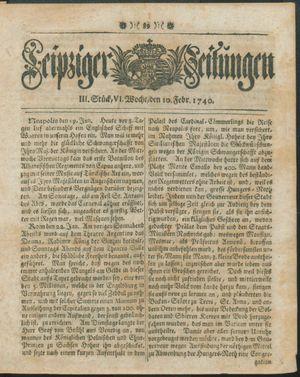 Leipziger Zeitungen vom 10.02.1740