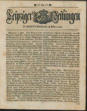Leipziger Zeitungen vom 18.02.1740