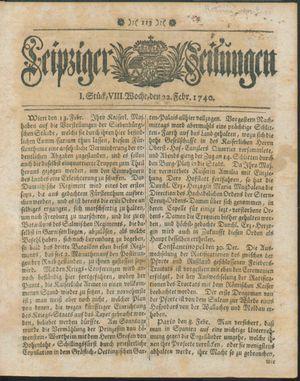 Leipziger Zeitungen on Feb 22, 1740