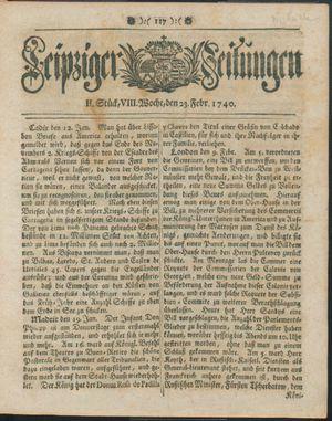 Leipziger Zeitungen vom 23.02.1740