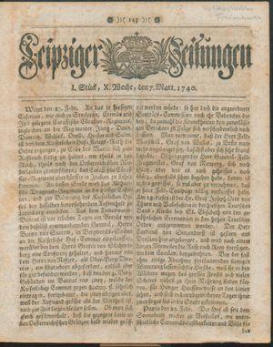 Leipziger Zeitungen vom 07.03.1740