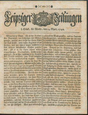 Leipziger Zeitungen vom 14.03.1740