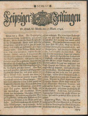 Leipziger Zeitungen vom 17.03.1740