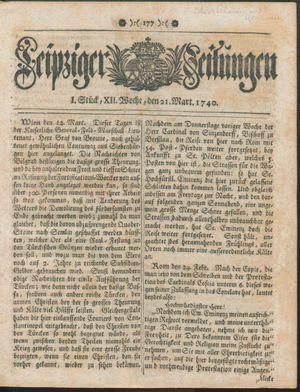 Leipziger Zeitungen vom 21.03.1740