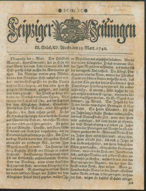 Leipziger Zeitungen vom 23.03.1740