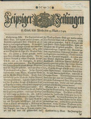 Leipziger Zeitungen vom 29.03.1740
