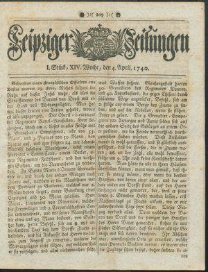 Leipziger Zeitungen vom 04.04.1740