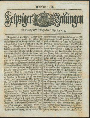 Leipziger Zeitungen vom 06.04.1740