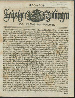 Leipziger Zeitungen on Apr 11, 1740