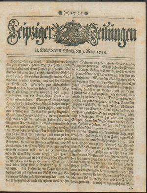 Leipziger Zeitungen vom 03.05.1740