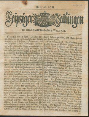Leipziger Zeitungen vom 04.05.1740