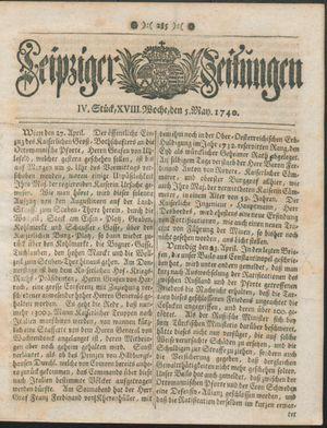 Leipziger Zeitungen vom 05.05.1740