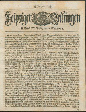 Leipziger Zeitungen vom 17.05.1740