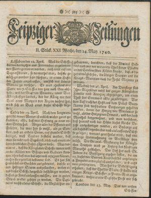 Leipziger Zeitungen on May 24, 1740