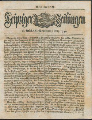 Leipziger Zeitungen vom 25.05.1740