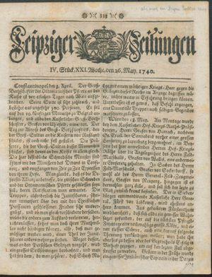Leipziger Zeitungen vom 26.05.1740