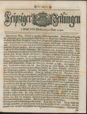 Leipziger Zeitungen vom 30.05.1740