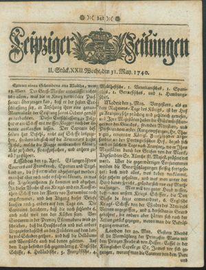 Leipziger Zeitungen vom 31.05.1740