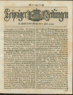 Leipziger Zeitungen on Jun 1, 1740