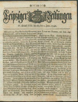 Leipziger Zeitungen vom 02.06.1740
