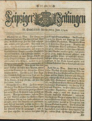 Leipziger Zeitungen vom 08.06.1740