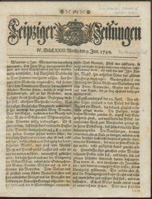 Leipziger Zeitungen vom 09.06.1740