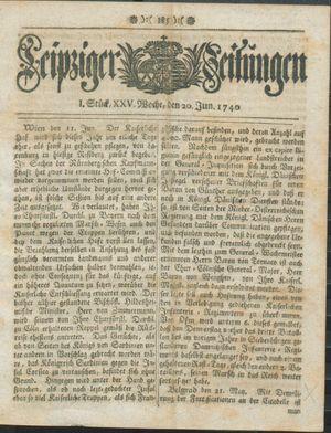 Leipziger Zeitungen vom 20.06.1740