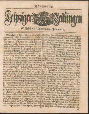 Leipziger Zeitungen vom 23.06.1740