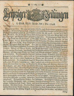 Leipziger Zeitungen vom 05.12.1740