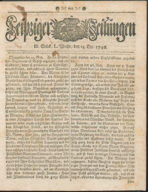 Leipziger Zeitungen vom 14.12.1740