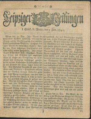 Leipziger Zeitungen on Jan 9, 1741