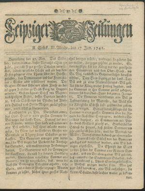 Leipziger Zeitungen vom 17.01.1741