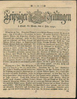 Leipziger Zeitungen vom 06.02.1741