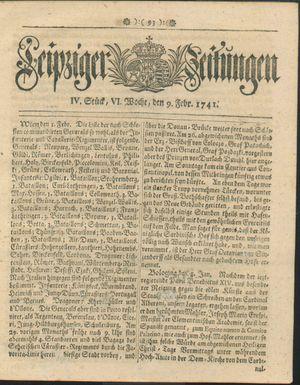Leipziger Zeitungen vom 09.02.1741