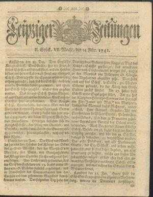 Leipziger Zeitungen on Feb 14, 1741