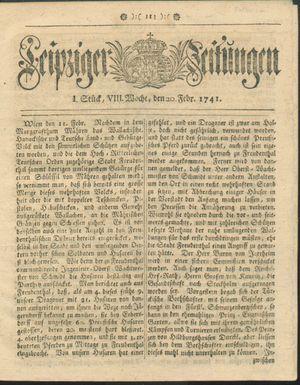 Leipziger Zeitungen vom 20.02.1741