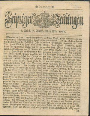 Leipziger Zeitungen vom 27.02.1741