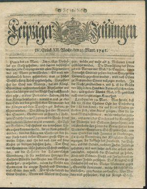 Leipziger Zeitungen vom 23.03.1741