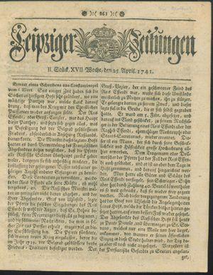 Leipziger Zeitungen vom 25.04.1741