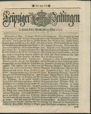 Leipziger Zeitungen vom 30.05.1741