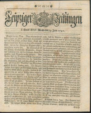 Leipziger Zeitungen vom 13.06.1741