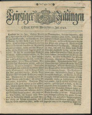 Leipziger Zeitungen vom 10.07.1741