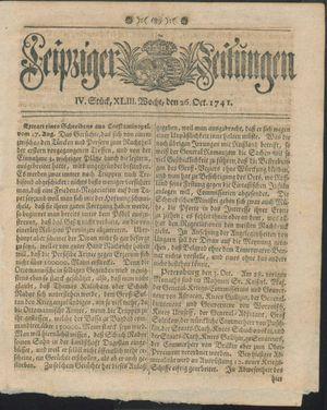 Leipziger Zeitungen vom 26.10.1741