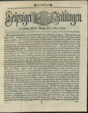 Leipziger Zeitungen on Dec 5, 1741